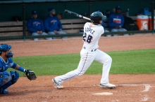 Pitcher Jorge Lopez helped his own cause with two hits on Friday night. (Paat Kelly)