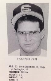 Rod Nichols 1988 program copy