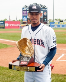 Orlando Arcia Receives the 2015 Rawlings Gold Glove Award